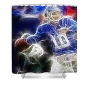 Eli Manning Ny Giants Shower Curtain by Paul Ward