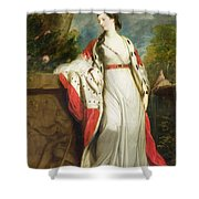 Elizabeth Gunning - Duchess Of Hamilton And Duchess Of Argyll Shower Curtain by Sir Joshua Reynolds