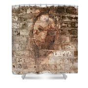 Emotions- Self Portrait Shower Curtain by Janie Johnson