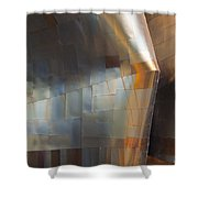Emp Abstract Fold Shower Curtain by Chris Dutton