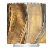 Emp Fools Gold Shower Curtain by Chris Dutton