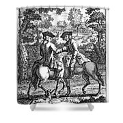 England: Highwayman, C1665 Shower Curtain by Granger