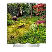 English Garden  Shower Curtain by Adrian Evans