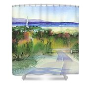 Entering Sandwich Shower Curtain by Joseph Gallant