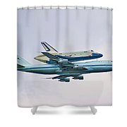 Enterprise 5 Shower Curtain by S Paul Sahm