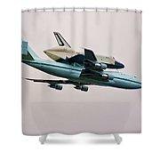 Enterprise 6 Shower Curtain by S Paul Sahm