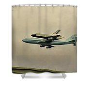 Enterprise 9 Shower Curtain by S Paul Sahm