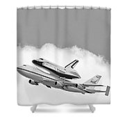 Enterprise Shuttle Over NY Shower Curtain by Regina Geoghan