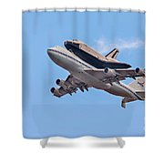 Enterprise Space Shuttle  Shower Curtain by Susan Candelario