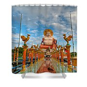 Entrance To Buddha Shower Curtain by Adrian Evans