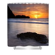 Enveloped By The Tides Shower Curtain by Mike  Dawson
