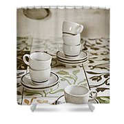 Espresso Cups Shower Curtain by Joana Kruse