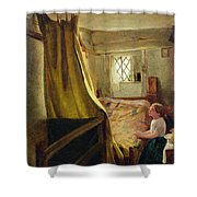 Evening Prayer  Shower Curtain by John Bagnold Burgess