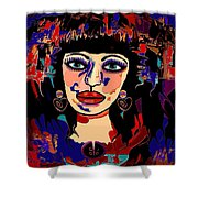 Exotic Woman Shower Curtain by Natalie Holland