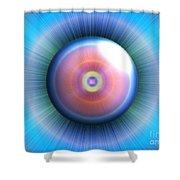 Eye Shower Curtain by Nicholas Burningham