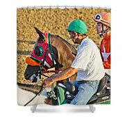 Eye on the Athlete  Shower Curtain by Betsy C  Knapp