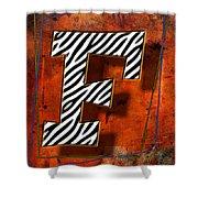 F Shower Curtain by Mauro Celotti