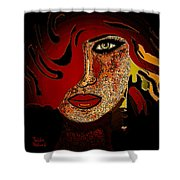 Face 10 Shower Curtain by Natalie Holland