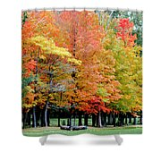 Fall In Michigan Shower Curtain by Optical Playground By MP Ray