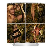 Fall Of Eve Shower Curtain by Lourry Legarde
