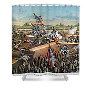 Fall Of Petersburg, 1865 Shower Curtain by Granger