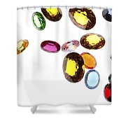 Falling Gems Shower Curtain by Setsiri Silapasuwanchai