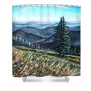 Family Hike Shower Curtain by Shana Rowe Jackson