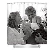 Family Portrait Shower Curtain by Michelle Quance