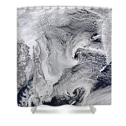 Far Eastern Russia Covered In Snow Shower Curtain by Stocktrek Images