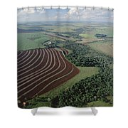 Farming Region With Forest Remnants Shower Curtain by Claus Meyer