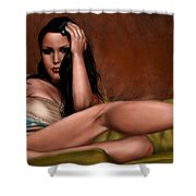 Fatal Attraction Shower Curtain by Pete Tapang