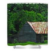 Feed Stand Shower Curtain by Scott Hervieux