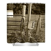Fence Post Shower Curtain by Jennifer Ancker