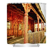 Fiddletown Saloon Shower Curtain by Cheryl Young