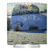 Field Of Shadows Shower Curtain by Andrew Macara