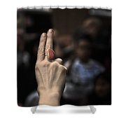 Fight For Your Rights Shower Curtain by Evelina Kremsdorf