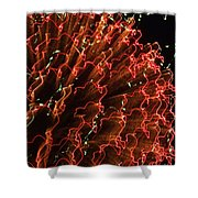 FIREBALL in the SKY Shower Curtain by KAREN WILES