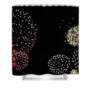 Firework Lifecycle 3 Shower Curtain by Meandering Photography