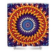 Fireworks Shower Curtain by Cheryl Young