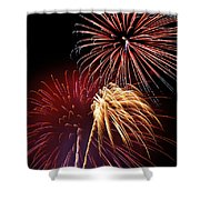 Fireworks Wixom 3 Shower Curtain by Michael Peychich