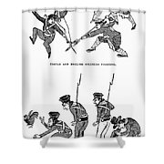 First Opium War: Soldiers Shower Curtain by Granger