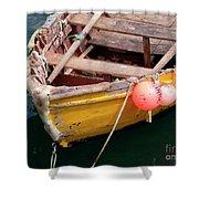Fishing Boat Shower Curtain by Carlos Caetano