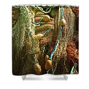 Fishing Nets Shower Curtain by Joana Kruse