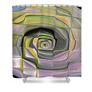Fit Into The Box Shower Curtain by Deborah Benoit