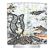 Fizz In The Blend  Shower Curtain by Vicky  Hutton