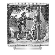 Flaying Of Christian Shower Curtain by Granger