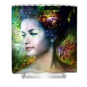 Flora Shower Curtain by Mary Hood
