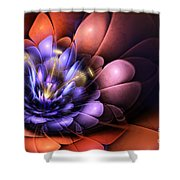 Floral Flame Shower Curtain by John Edwards