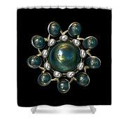 Floral Jewel Shower Curtain by Hakon Soreide