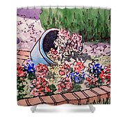 Flower Bed Sketchbook Project Down My Street Shower Curtain by Irina Sztukowski